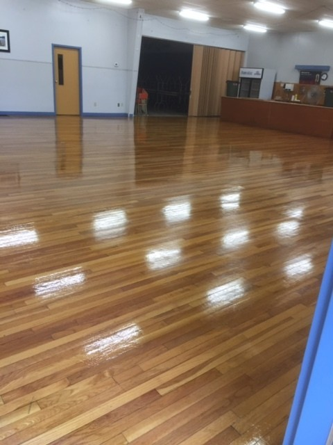 cleaned gym floor